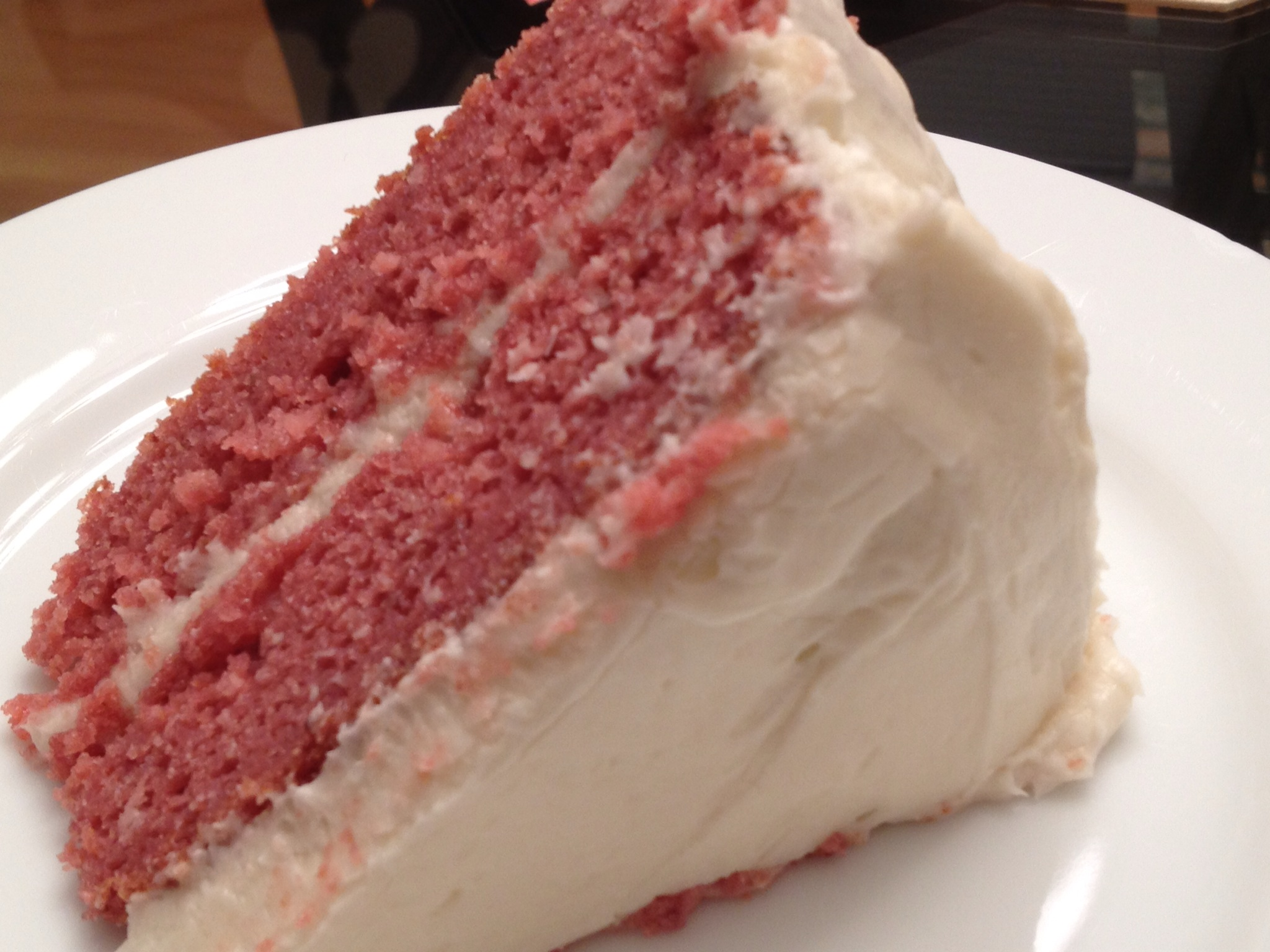Strawberry Cake with Cream Cheese Frosting | Such a Little Baker